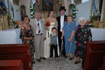 Babičky, děda a synovec