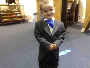 my youngest all suited