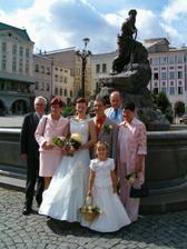 s rodiči a dědečkem