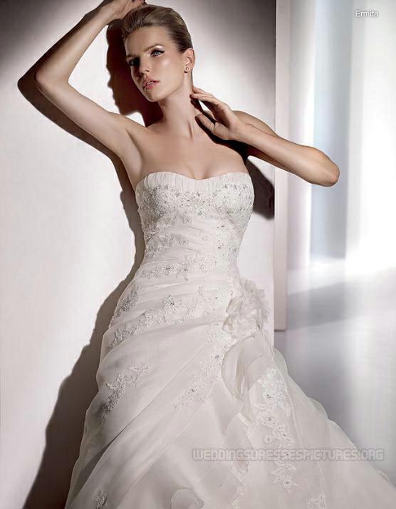Moje predstavy o svadobnom dni.... - Detail vrchnej časti šiat :-)))