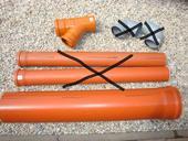 Kanalizační potrubí 200 mm + odbočka, sleva,