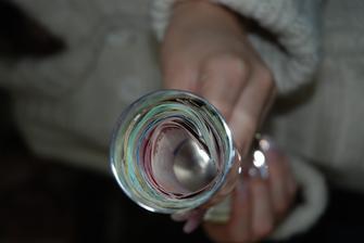 svadobné dary v pohári