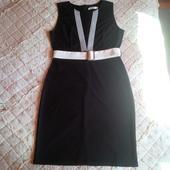 Šaty ,elagantné, spoločenské šaty s bielym opaskom, 42