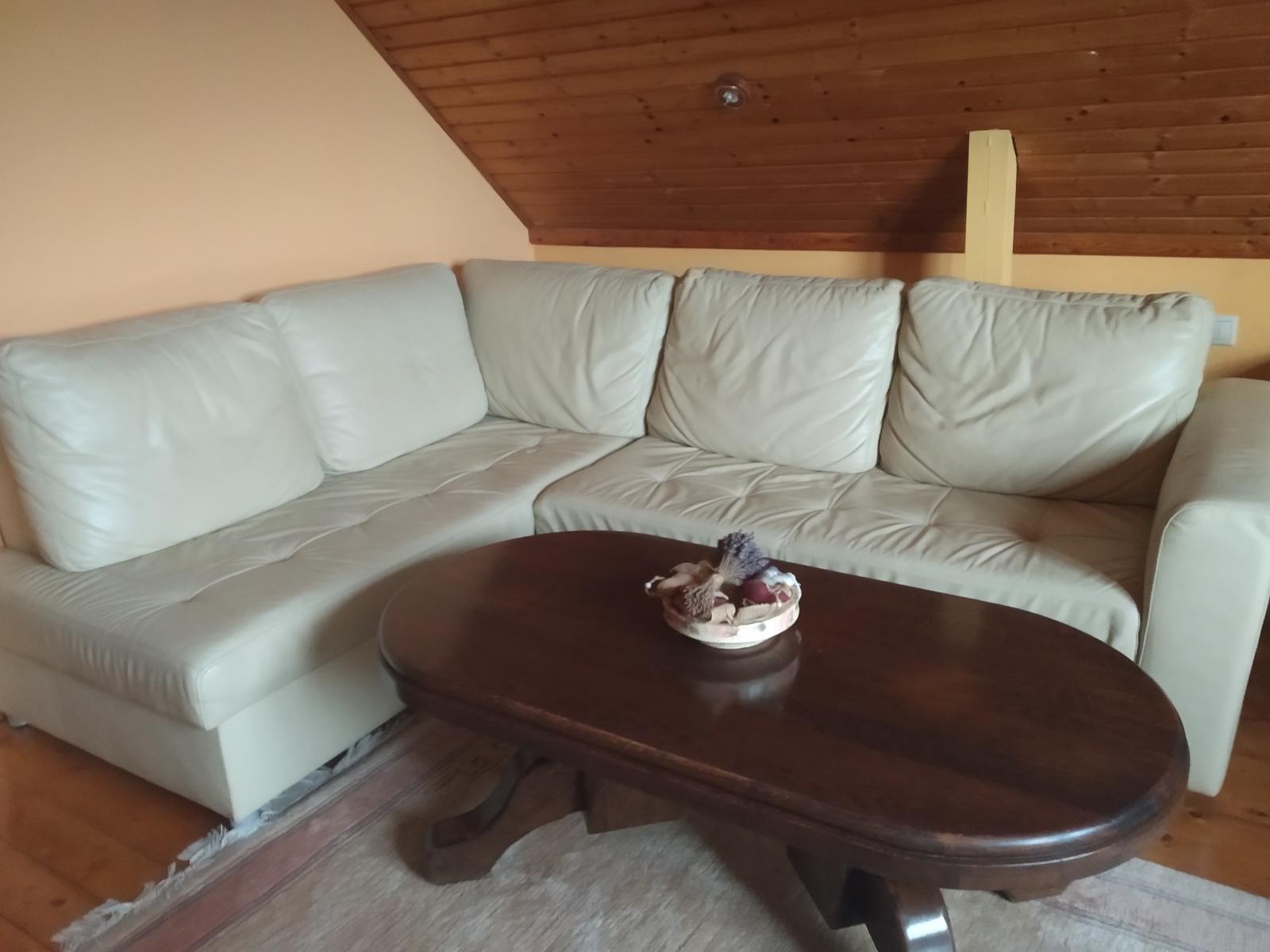 Rohová kožená sedačka - Obrázok č. 1
