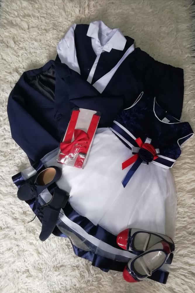 Tmavě modrý oblek pro kluka - Obrázek č. 1