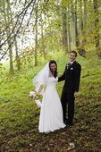 Jednoduché romantické svatební šaty, 38