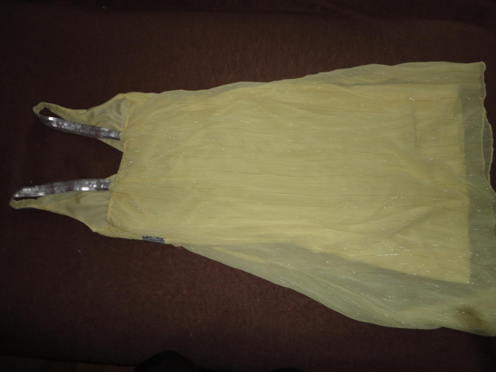žlté šaty s aplikáciou - Obrázok č. 3
