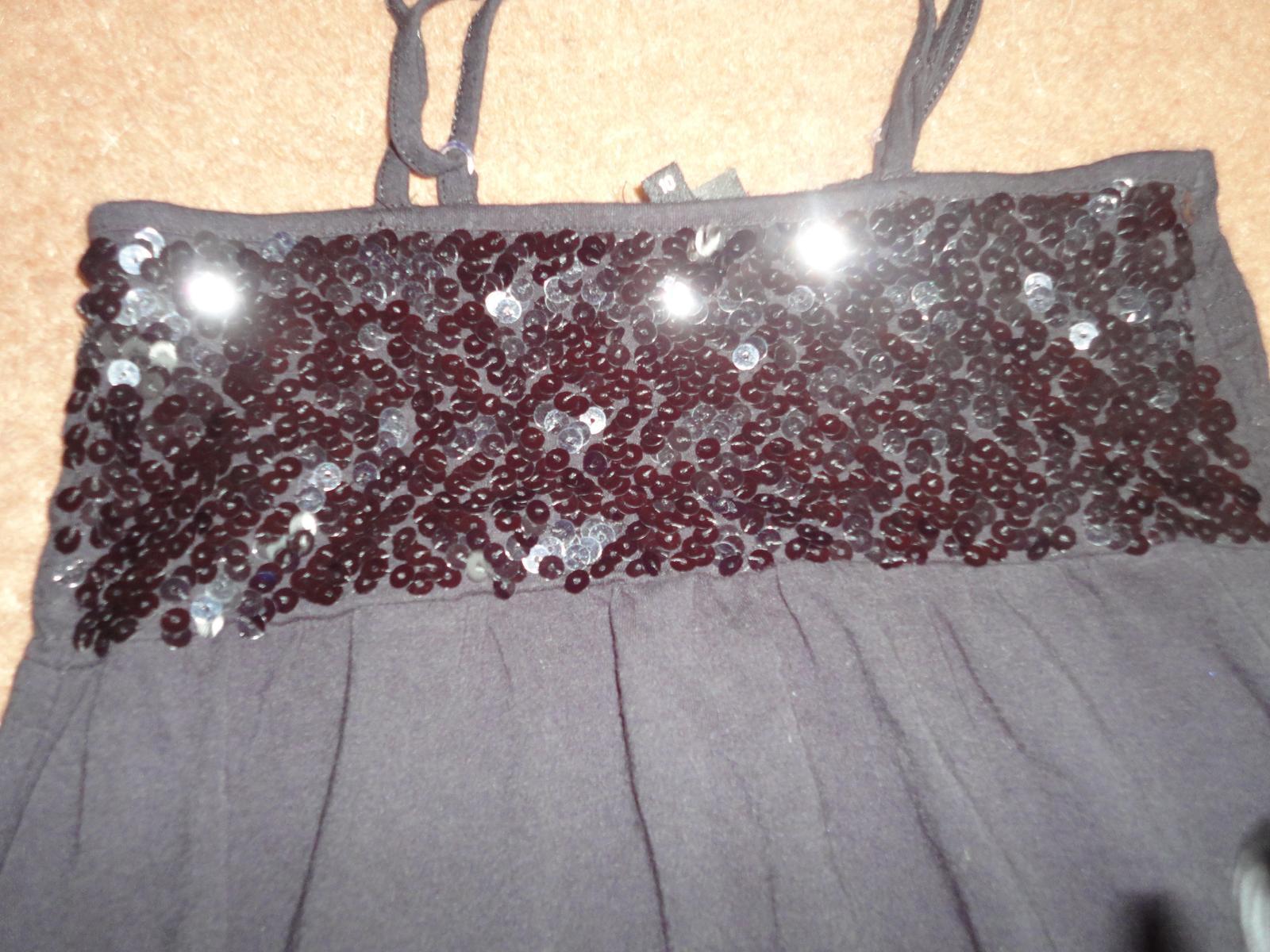 čierné tričko, tunika  - Obrázok č. 1