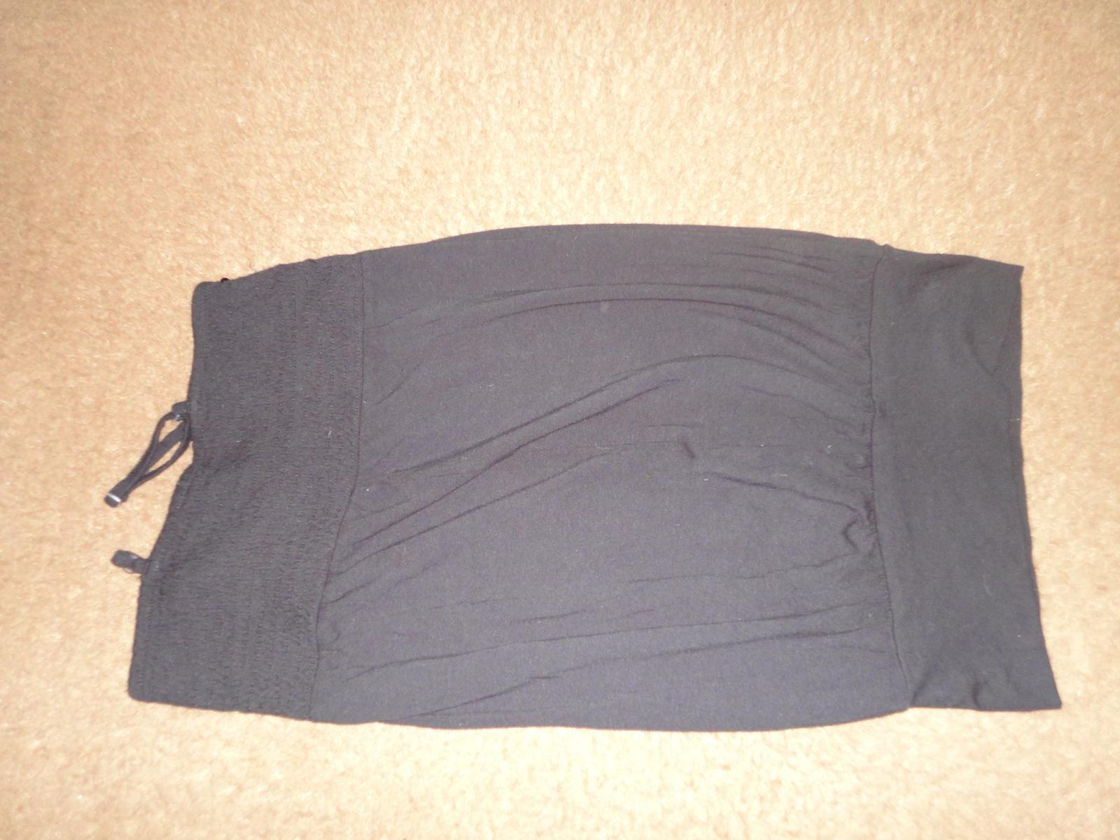 čierné tričko, tunika  - Obrázok č. 4