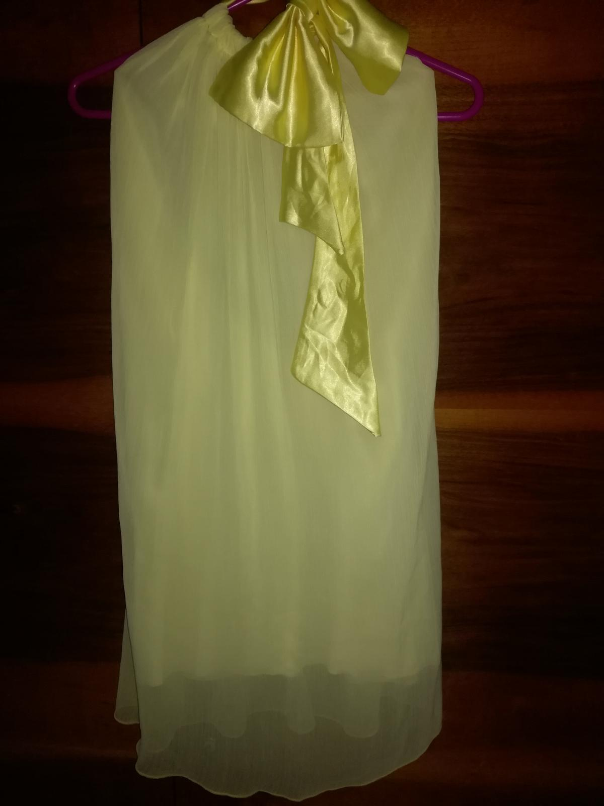 Žlté šaty s mašľou - Obrázok č. 1