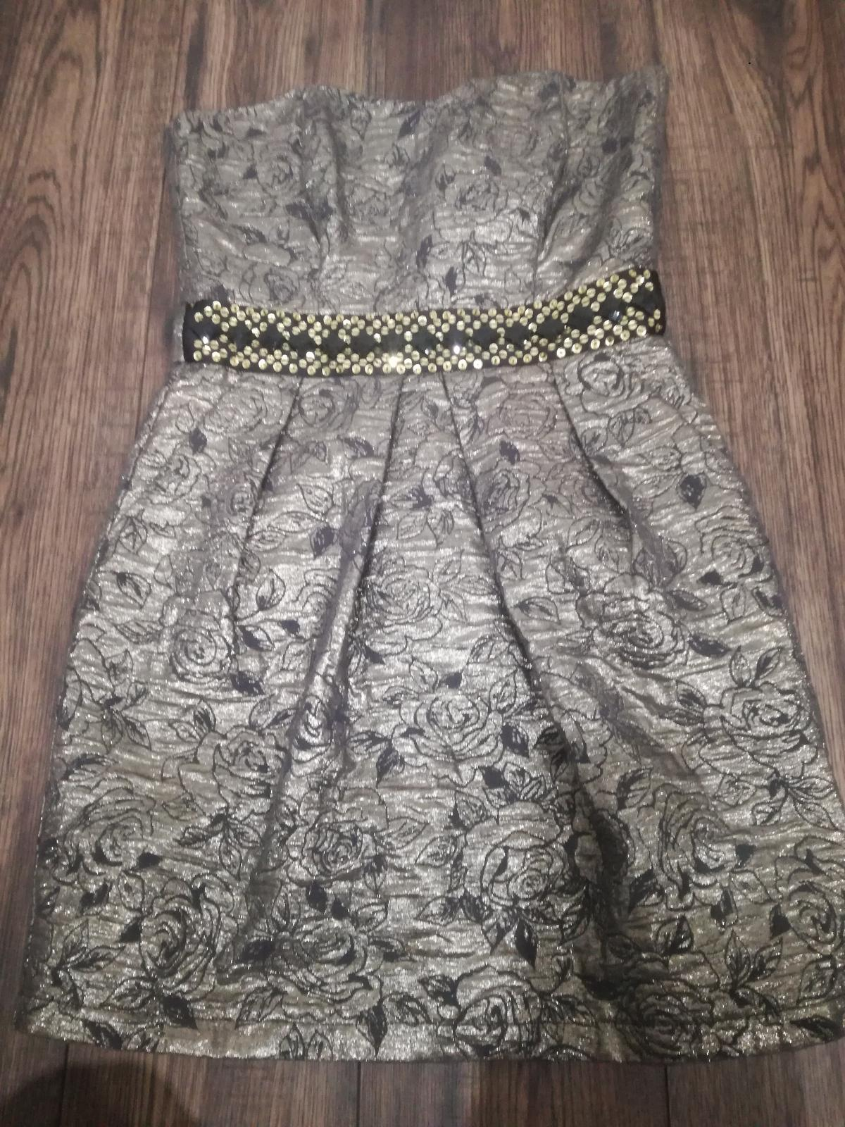 Pekné metalicke šaty - Obrázok č. 1