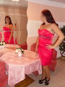 krátke červené šaty, L