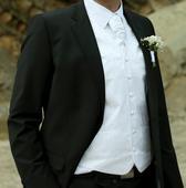 Svadobná vesta, kravata, manž. gombíky, vreckovka, 52