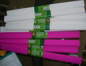 krepovy papier na vyzdobu