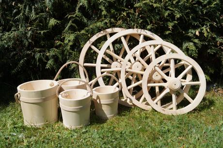 Drevené dekoračné koleso 70cm - Obrázok č. 1