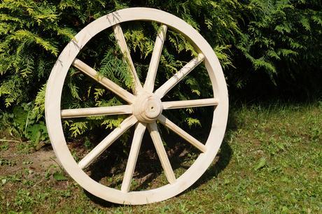 Drevené dekoračné koleso 60cm - Obrázok č. 1