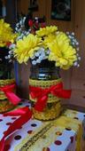 vázičky - červená a žlutá kombinace (home made),