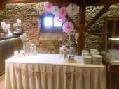 Dekorační vykrajované rozety - růžová, bílá,