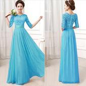 Modré šaty, vhodné ako popolnočky, 40