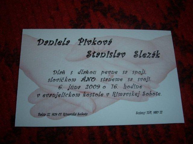 D+S  6.6.2009 - A podarili sa nám aj takéto krááásne oznámenia. Prosím nekopírovať!!!