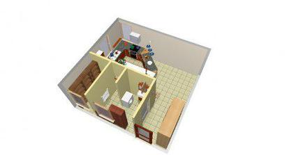 kuchyna a pracovna cast a komora