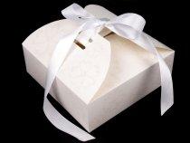 1x papírová krabička se stuhou a glitry 21x21x7 cm - Obrázek č. 1