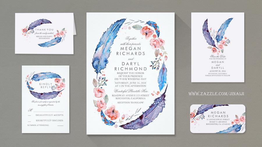 Prvotní inspirace - Peříčka a lapače snů budou provázet naše svatební tiskoviny a texty