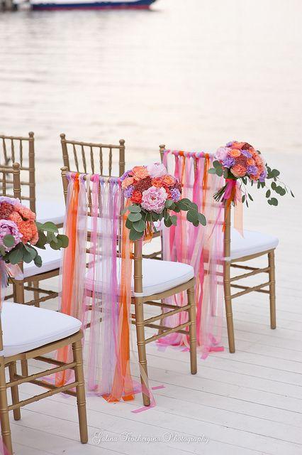 Prvotní inspirace - Ozdoba židlí nejen u obřadu, ale i u svatební tabule