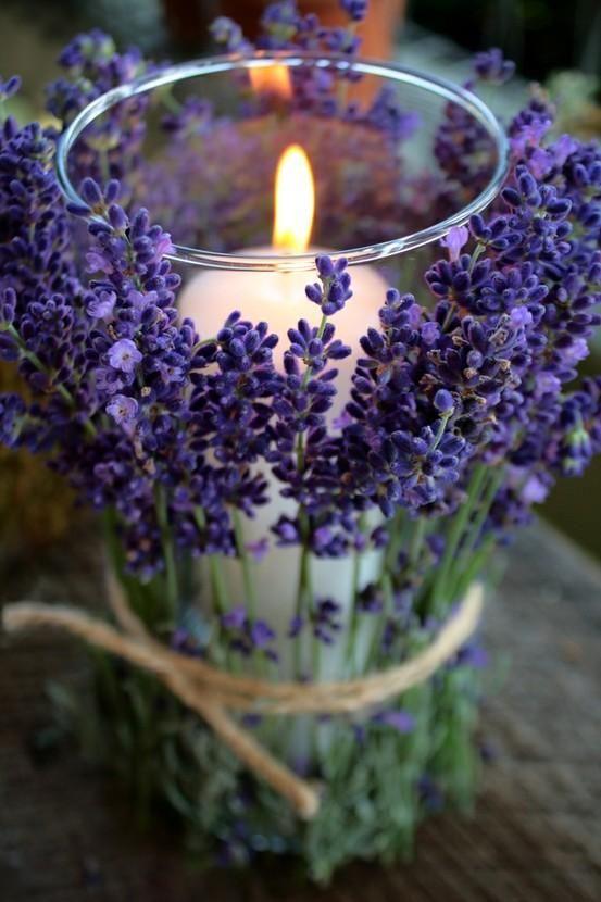 Prvotní inspirace - Fialkové levandule na dekoraci - budou od mamky ze zahrádky