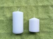 Bílé svíčky - dvě velikosti,