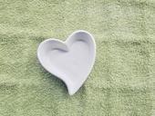 Keramické srdce na prstýnky,