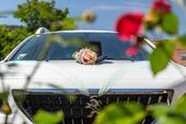 Výzdoba auta nevěsty i ženicha,