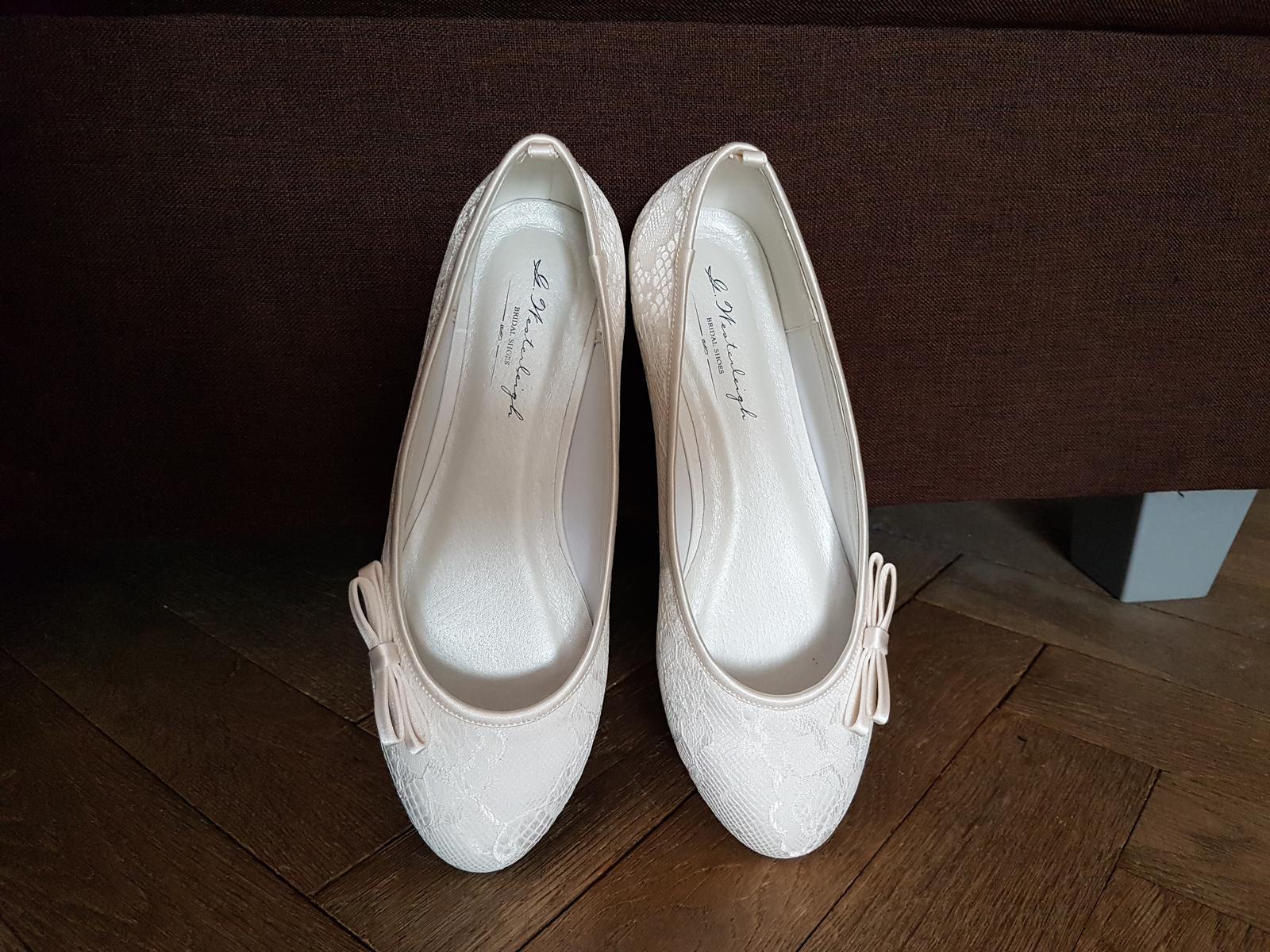 Svadobné balerínky - ivory - Obrázok č. 1
