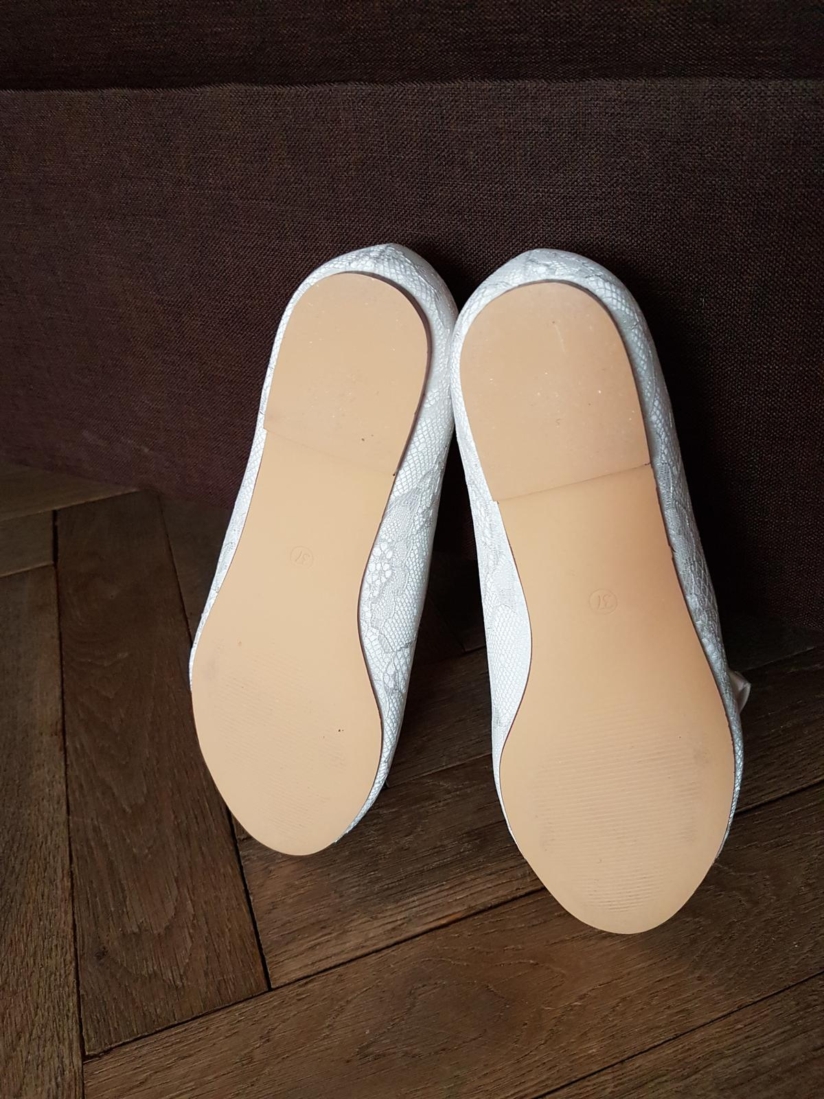Svadobné balerínky - ivory - Obrázok č. 3