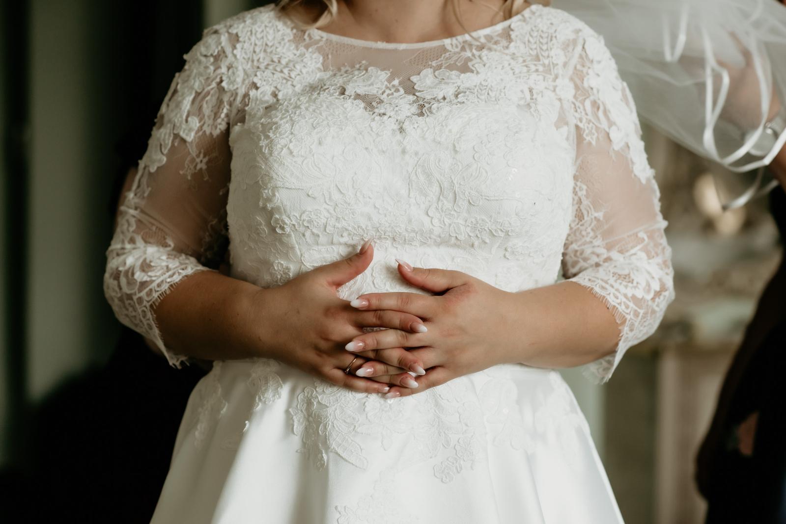 Svadobné šaty veľ. 44-48 - Obrázok č. 1