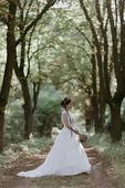 Stylove svatebni saty s bavlnenou krajkou, 38