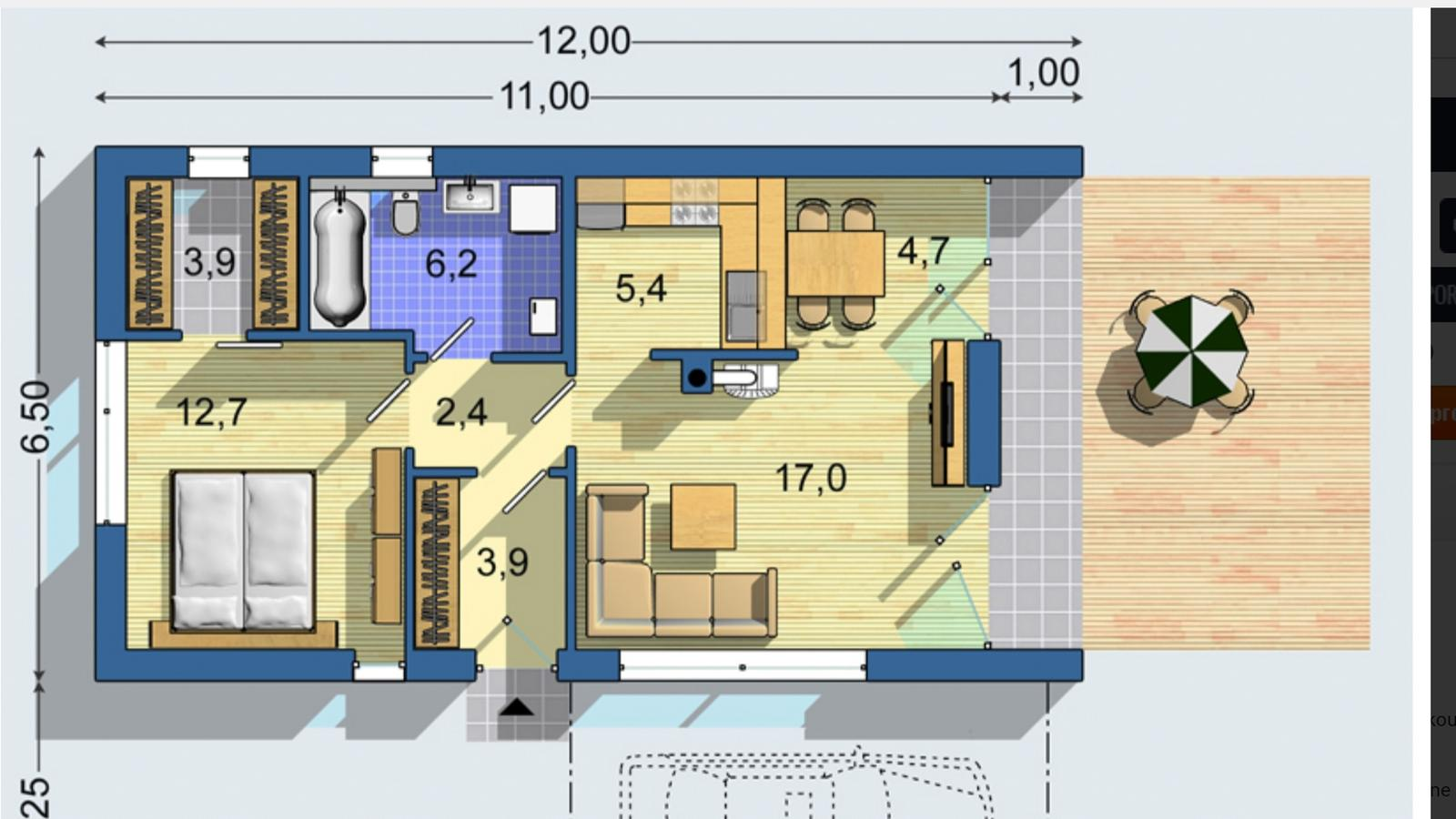 Euroline Bungalov S 1408 - Obrázok č. 2