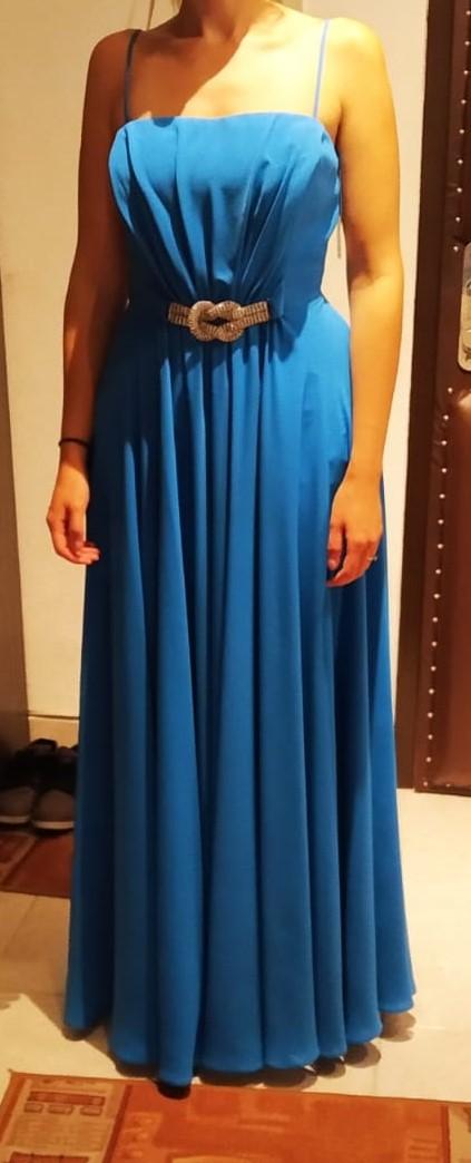 Spoločenské šaty modré - Obrázok č. 1