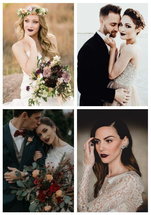 Výrazné líčenie, tmavé pery...Zvolili by ste takýto svadobný makeup pre svoj veľký deň D? :-) Zdroj foto: Pinterest - happywedd_com - Obrázok č. 1