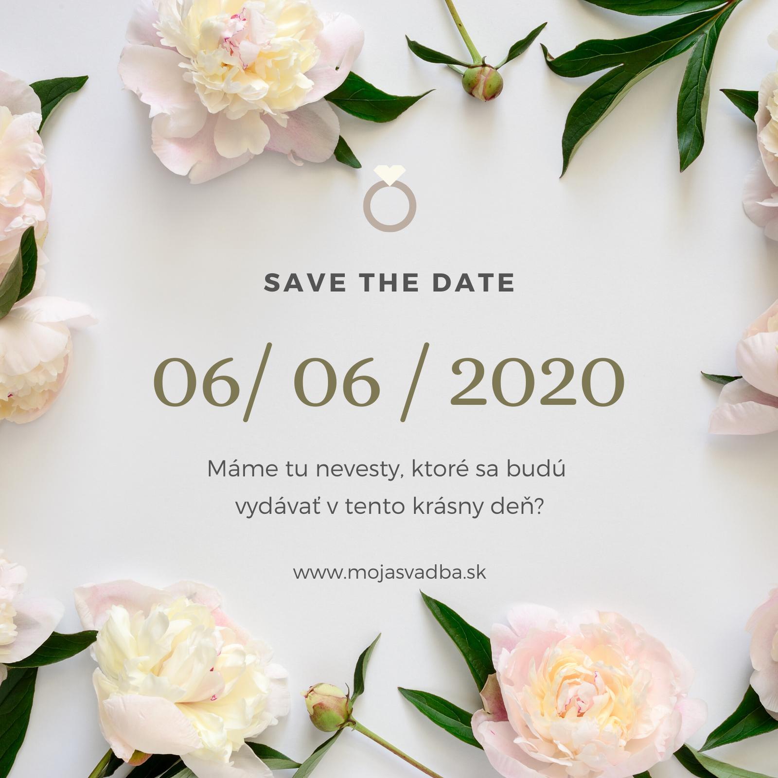 Vedeli ste, že mnohé páry si vyberajú svoj dátum svadby aj na základe numerológie? Máme tu nevesty, ktoré zajtra, 6.6.2020, čaká ich veľký deň?😍 Toto číslo je údajne veľmi priaznivé pre budúce manželstvá. Naznačuje stabilitu vzťahu bez hádok a negatívnej energie. Tak vám teda prajeme všetko dobré a dúfame, že si svoj zajtrajší deň užijete naplno!❤️ - Obrázok č. 1