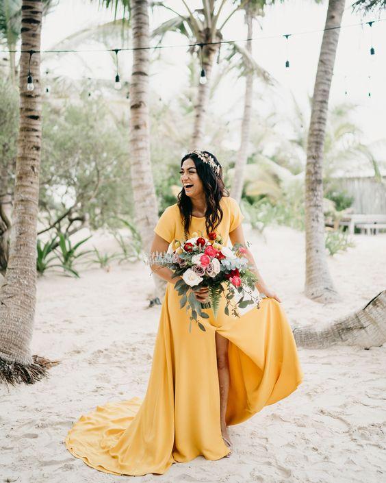 Farebné svadobné šaty - Obrázok č. 10