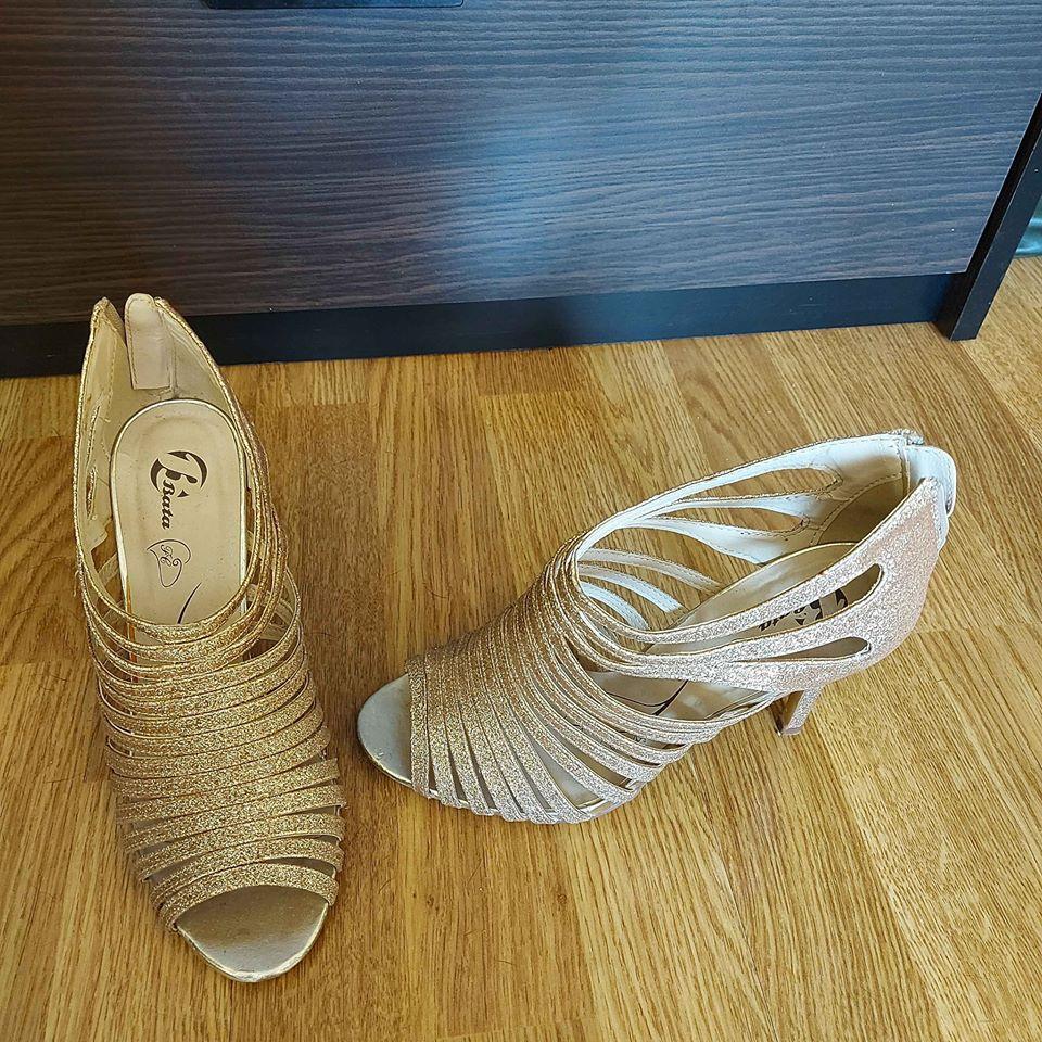 Zlaté sandále Baťa 38 - Obrázok č. 2