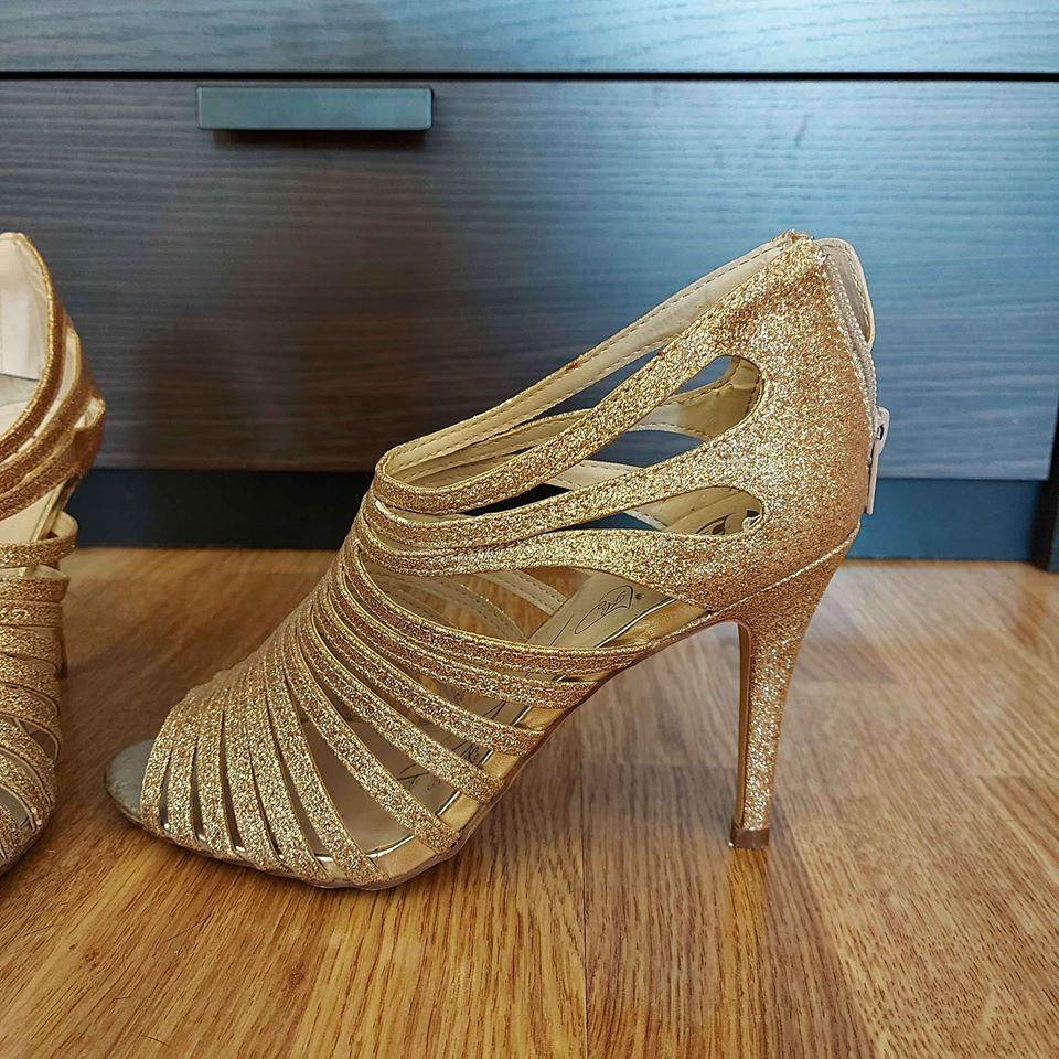 Zlaté sandále Baťa 38 - Obrázok č. 1