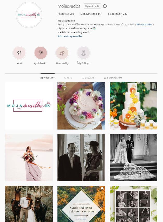 Vedeli ste, že máme aj Instagram? =-)  Ak nás ešte nesledujete, tak to bežte napraviť :) https://www.instagram.com/mojasvadba/ - Obrázok č. 1