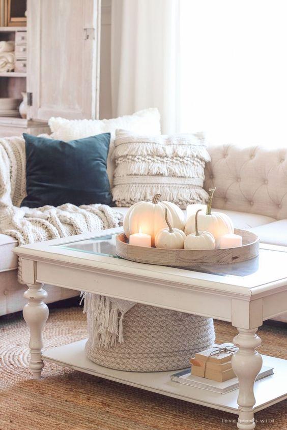 Jesenné dekorácie v obývačke - Obrázok č. 6
