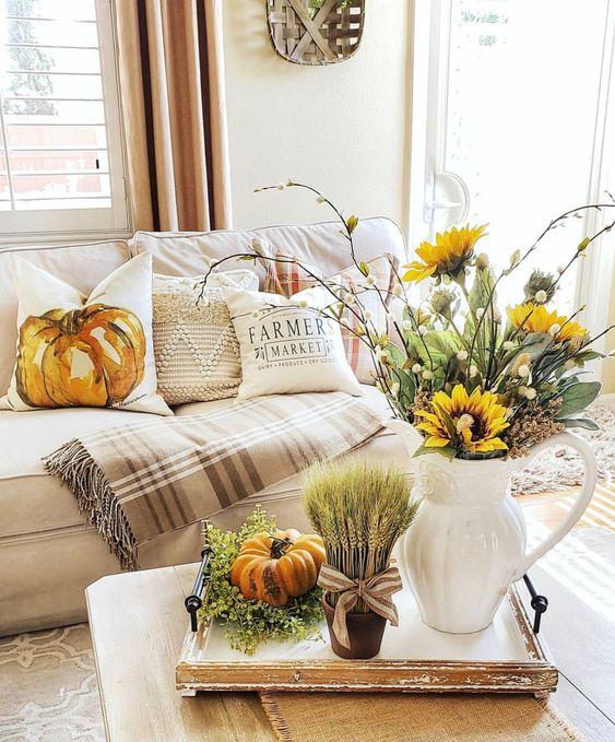 Jesenné dekorácie v obývačke - Obrázok č. 4