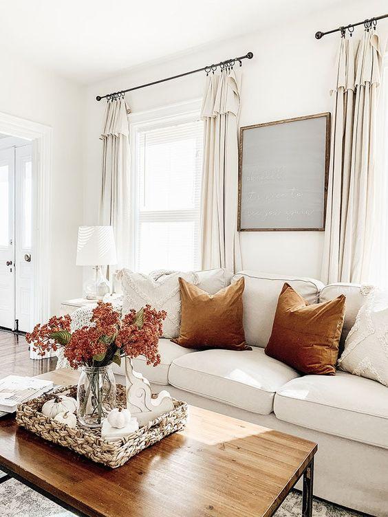 Jesenné dekorácie v obývačke - Obrázok č. 12