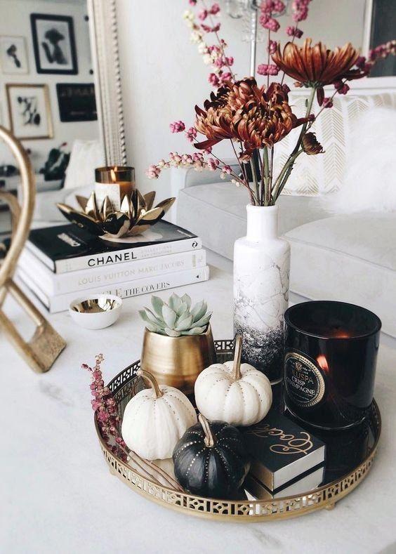 Jesenné dekorácie v obývačke - Obrázok č. 3