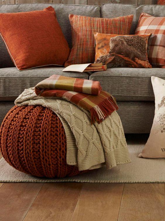 Jesenné dekorácie v obývačke - Obrázok č. 2