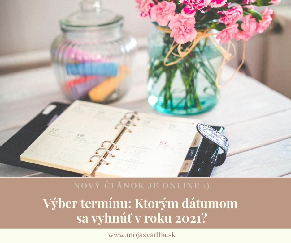 Zásnuby prebehli, všetkým ste oznámili, že sa budete brať, porozprávali ste sa o vašich predstavách a nastal čas začať uvažovať o termíne svadby? :) Jeho výber však nie je vždy jednoduchý. Poradíme vám, ktorým dátumom sa vyhnúť v roku 2021: https://mojasvadba.zoznam.sk/magazine/kedy-nemat-svadbu - Obrázok č. 1